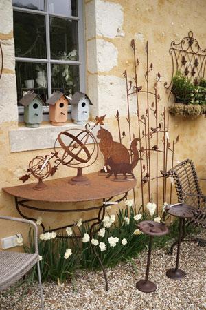 nichoirs-treillis-sphere-table-demi-lune-metal-jardin