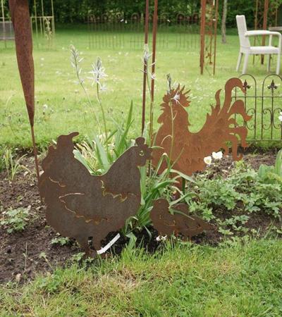 silhouettes-poule-coq